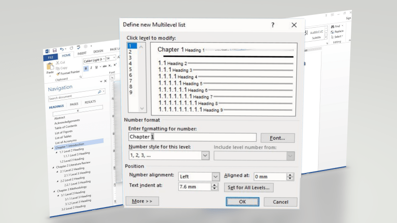 Adding Chapter Number, Custom Prefix to MS Word Headings