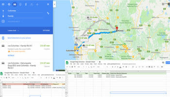 get Google Map Travel Time and Distance