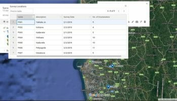 how to export Google My Maps data table to Excel