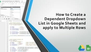 dependent dropdown list in google sheets