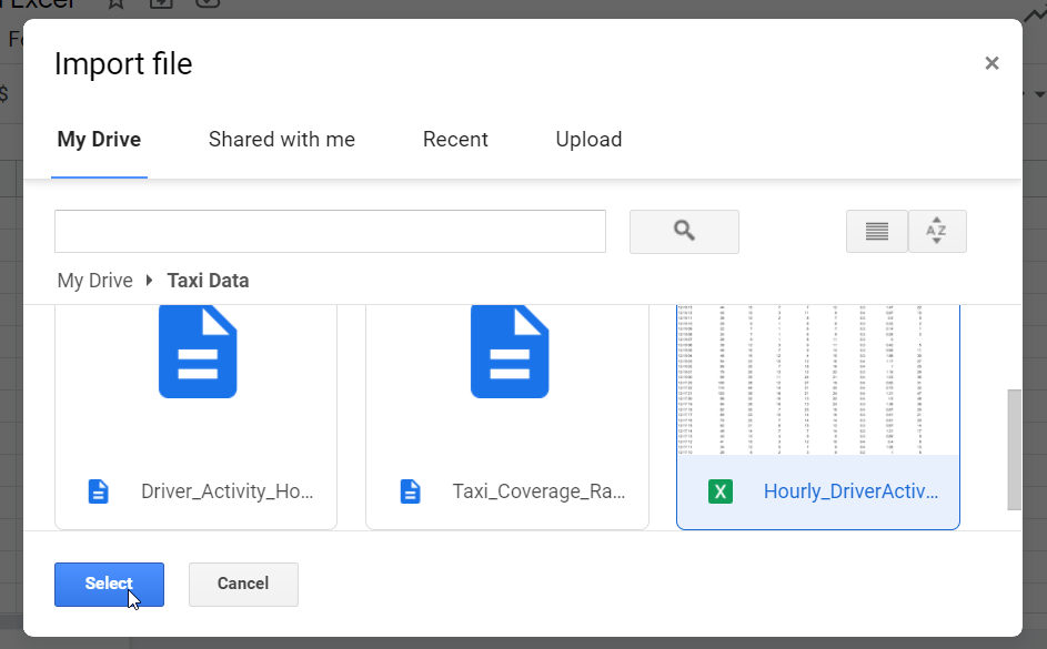9 import excel file to Google Sheets